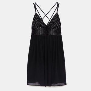Zara Short Dress with Beading - NWT